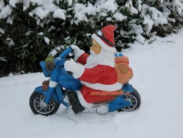 weihnachtsmann motorrad deko